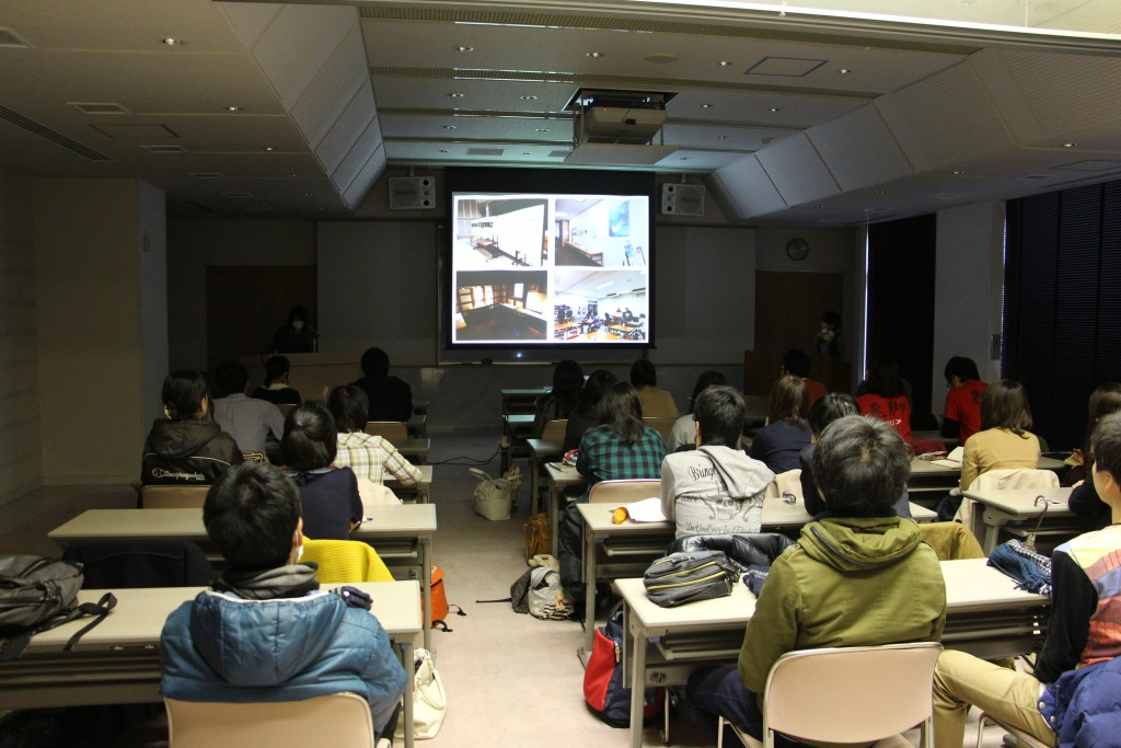 H26年度学生チャレンジ採択団体による報告会&交流会の様子